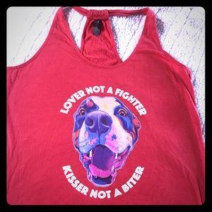 Dog lover tank top